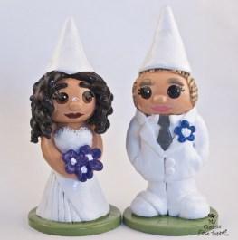 Gnome Brides Couple Cake Topper
