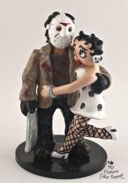 Jason And Betty Boop Custom Wedding Cake Topper