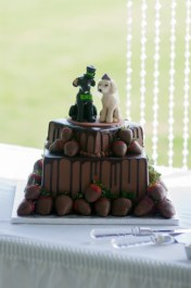 Julie's Custom Dogs Wedding Cake Topper
