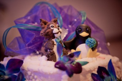 Kyla's Bob Cat and Penguin Cake Topper