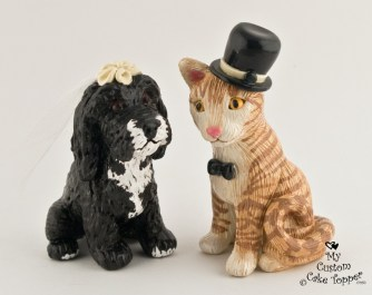 Cat And Dog Cake Topper