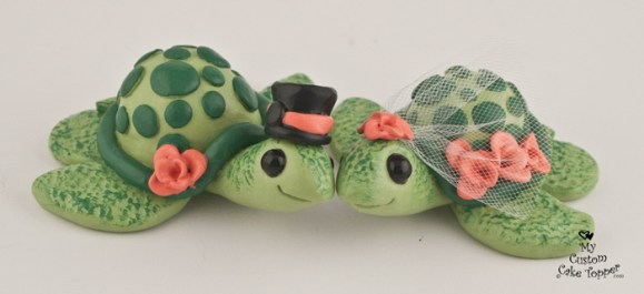 Love Turtles Custom Wedding Cake Topper