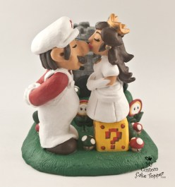 Mario And Princess Peach Mario Brothers Castle Cake Topper