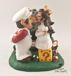 Mario And Princess Peach Mario Brothers Castle Cake Topper