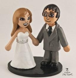 Mii Couple Wedding Cake Topper