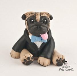 Pug Boy Cake Topper