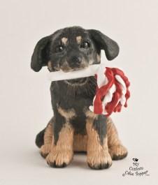 Rottweiler Dog Cake Topper
