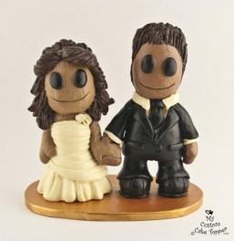 Sac People Custom Wedding Cake Topper
