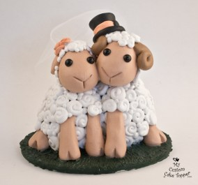 Sheep Love Wedding Cake Topper