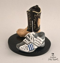 Shoes Cowgirl Boot And Runner Wedding Cake Topper