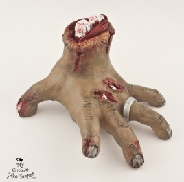 Zombie Hand Wedding Cake Topper