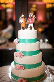 Abigail and Carlos Custom Mascot Cake Topper