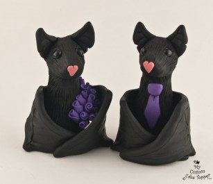 Black Bats with Purple
