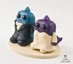 Squared Dinosaurs Cake Topper