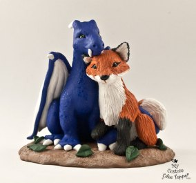 Dragon And Fox Cake Topper