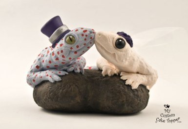 Geckos Lizards Wedding Cake Topper