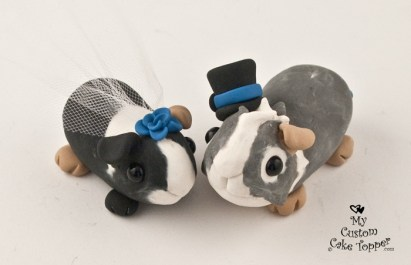 Guinea Pig Love Custom Wedding Cake Topper