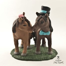 Horse Love Wedding Cake Topper