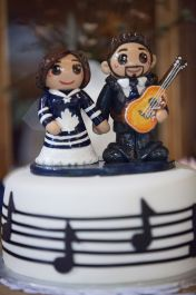 J & T's Wedding Cake Topper