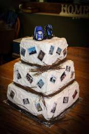 Janet's Backpacks Travel Wedding Cake