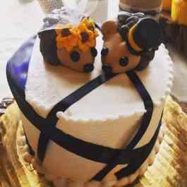 Kayleigh's  Sunflower Hedgehogs Cake Topper