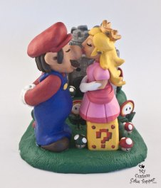Mario and Princess Peach with the Castle