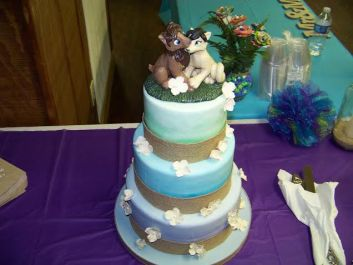 Tiffini's Cat Characters Wedding Cake