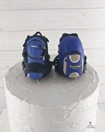 Backpacks Traveling Travelers Couple Cake Topper