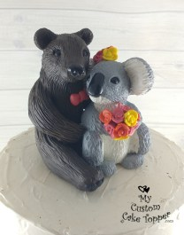 Realistic Bear and Koala Cuddling