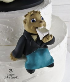 Alvin and the Chipmunks with Theodore and Belle Dancing Wedding Cake Topper