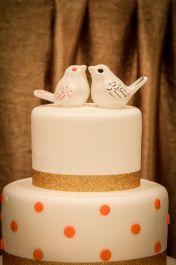 Diane's Stylized Birds Wedding Cake Topper