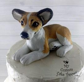 Realistic Corgi Dog Custom Wedding Cake Topper