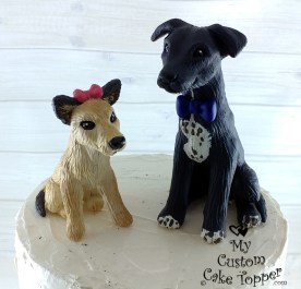 Dog Terrier Chi and Greyhound Lab Pets Cake Topper