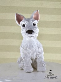 "Dog Realistic ""Penny"" White Cake Topper Pet"