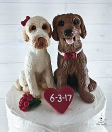 Dogs Pet Portrait Realistic Tonya's Custom Wedding Cake Topper