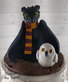How to Train Your Dragon and Harry Potter Cake Topper