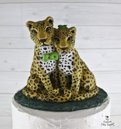 Jaguar Wild Cats Wedding Cake Topper