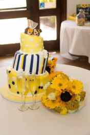 Natalie's Hedgehog Sunflowers Wedding Cake