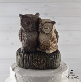 Great Horned Owls on a Stump