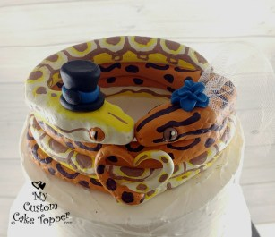 Snakes Spotted Custom Wedding Cake Topper