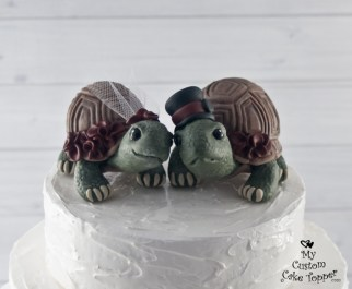 Land Turtles Semi Realistic Cake Topper