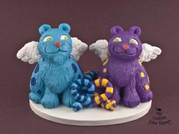 Cat Creatures Custom Cake Topper