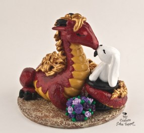 Dragon and Bunny Sculpture
