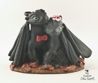 Night Fury Couple from How to Train Your Dragon