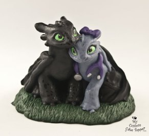 Nightfury Bride and Groom Cake Topper