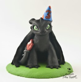 Night Fury Toothless Birthday Topper