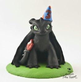 Night Fury Toothless Birthday Topper