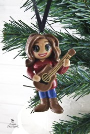 Guitar Girl Christmas Ornament