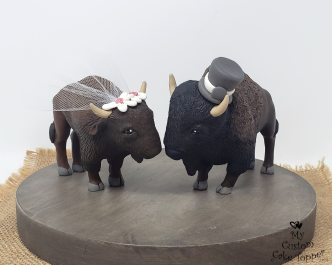 Bison Realistic Cake Topper