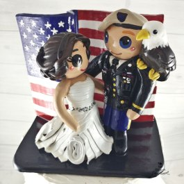 Bride and Groom American Themed